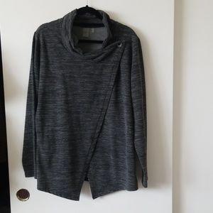 Black and Gray Long Sleeve Sweatshirt